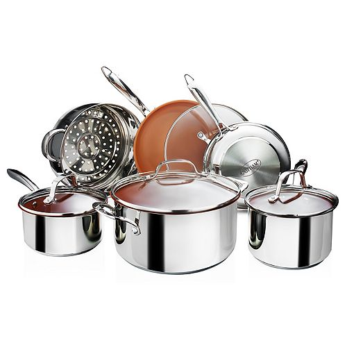 Gotham Steel 10-piece Stainless Steel Cookware Set As Seen on TV