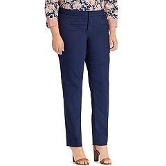 Plus Size Chaps Solid Slim Fit Pants