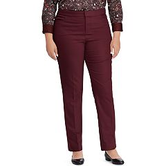 Plus Size Chaps Solid Slim Fit Pants
