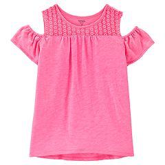 Girls 4-14 Carter's Pink Cold Shoulder Tee