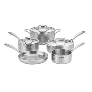 Cuisinart Hammered Collection 8-piece Tri-Ply Stainless Cookware Set