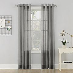 No 918 Erica Crushed Sheer Voile Curtain Panel