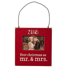 '2018 Mr. & Mrs.' 3' x 2' Frame Christmas Ornament
