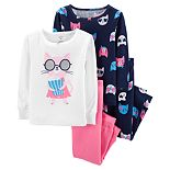 Baby Girl Carter's Popcorn Cat Tops & Bottoms Pajama Set