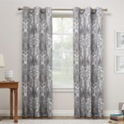 No 918 Liliana Paisley Damask Print Curtain Panel