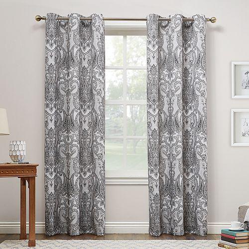 No 918 Liliana Paisley Damask Print Curtain Panel