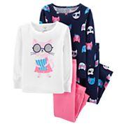Toddler Girl Carter's Cats Tops & Bottoms Pajama Set
