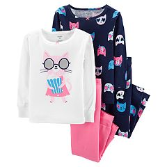 Toddler Girl Carter's Cats Tops & Bottoms Pajama Set