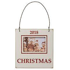 '2018' 3' x 2' Frame Christmas Ornament
