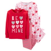 "Baby Girl Carter's ""Be Mine"" Heart Tops & Bottoms Pajama Set"