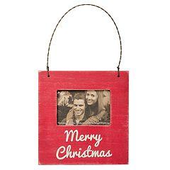 'Merry Christmas' 3' x 2' Frame Christmas Ornament