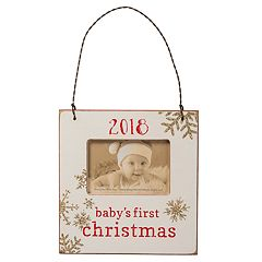 'Baby's First' 3' x 2' Frame Christmas Ornament