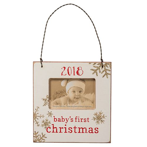 Babys First 3 X 2 Frame Christmas Ornament