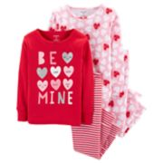 "Toddler Girl Carter's ""Be Mine"" All Over Hearts Tops & Bottoms Pajama Set"