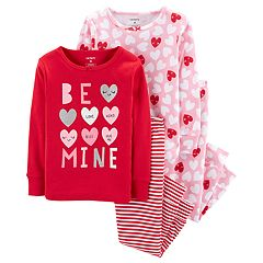 Toddler Girl Carter's 'Be Mine' All Over Hearts Tops & Bottoms Pajama Set