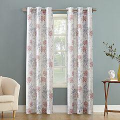 No 918 Simone Floral Print Grommet Curtain Panel