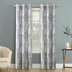 No 918 Simone Floral Print Grommet Curtain Panel