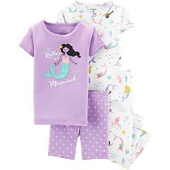 Toddler Girl Carter's Mermaid Tops, Shorts & Pants Pajama Set