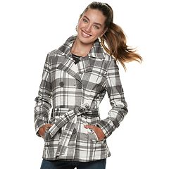 Juniors' J-2 Solid Fleece Double Breasted Jacket