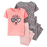 Baby Girl Carter's Leopard Print Tops & Bottoms Pajama Set