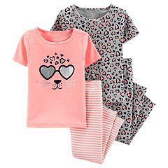 d42d1a19e74f6 Baby Girl Carter s Leopard Print Tops   Bottoms Pajama Set