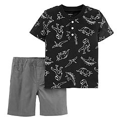 Toddler Boy Carter's Dinosaur Henley & Shorts Set
