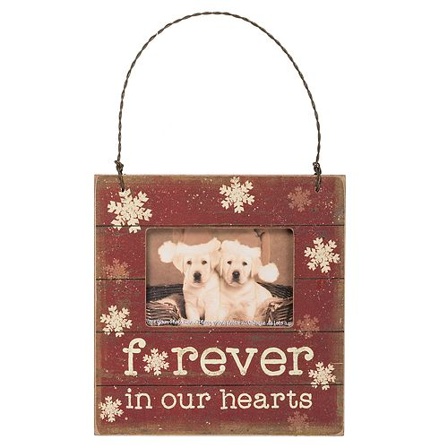 Forever In Our Hearts 3 X 2 Frame Christmas Ornament
