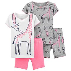Toddler Girl Carter's Giraffe Tops & Bottoms Pajama Set