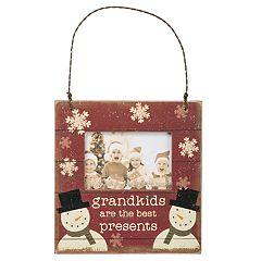 'Grandkids' 3' x 2' Frame Christmas Ornament