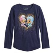 Girls 4-10 Jumping Beans® Shimmer & Shine Long-Sleeve Heart Graphic Tee