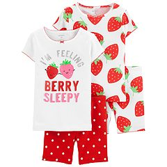 Toddler Girl Carter's Strawberry Tops & Bottoms Pajama Set