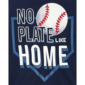 "Toddler Boy Carter's Baseball ""No Plate Like Home"" Graphic Tee & Shorts Set"