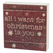 """All I Want For Christmas"" Box Sign Art"