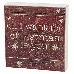 'All I Want For Christmas' Box Sign Art