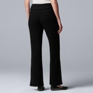 Women's Simply Vera Vera Wang Fold-Over Wide-Leg Pants