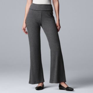 Women's Simply Vera Vera Wang Fold-Over Wide-Leg Pants