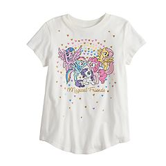 Girls 4-10 Jumping Beans® My Little Pony 'Magical Friends' Glittery Graphic Tee