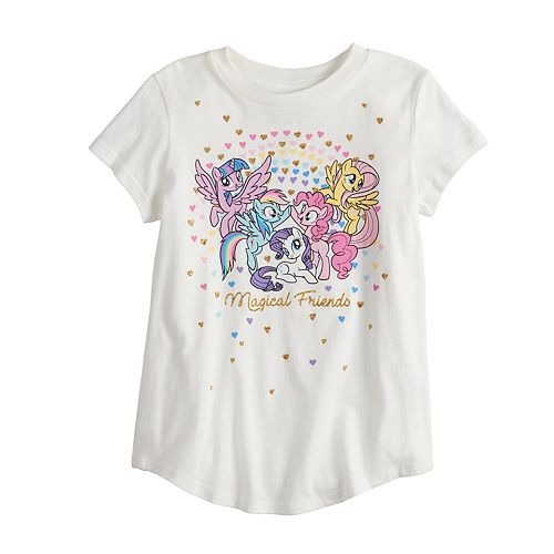 """Girls 4-10 Jumping Beans® My Little Pony """"Magical Friends"""" Glittery Graphic Tee"""