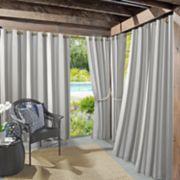 Sun Zero Valencia Cabana Stripe Indoor/Outdoor UV Protectant Curtain Panel
