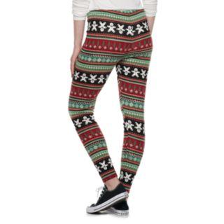 Juniors' SO® Hatchi Holiday Leggings