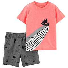 Toddler Boy Carter's Whale & Ship Top & Printed Shorts Set