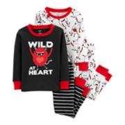 "Toddler Boy Carter's ""Wild at Heart ""Tops & Bottoms Pajama Set"