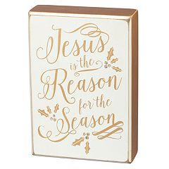 'Reason For The Season' Christmas Box Sign Art