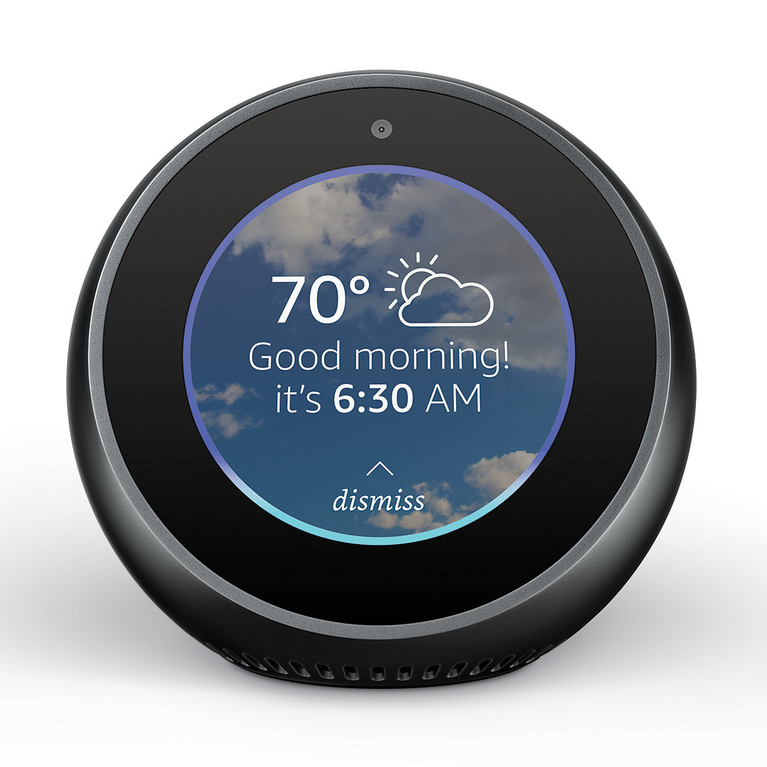 Amazon Echo Spot Smart Alarm Clock With Alexa Kohls