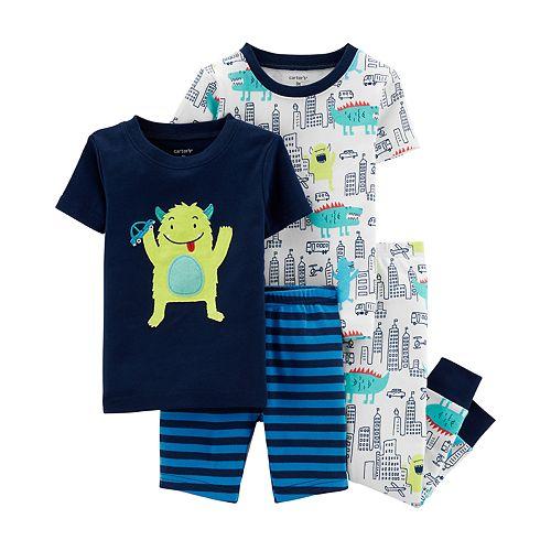 Toddler Boy Carter's Monster Tops, Shorts & Pants Pajama Set