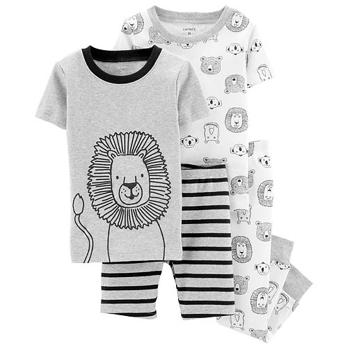 Toddler Boy Carter's Lion & Bear Tops, Shorts & Pants Pajama Set