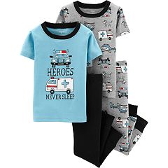 Toddler Boy Carter's 'Heroes Never Sleep' Ambulance & Police Tops & Bottoms Pajama Set