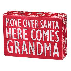 'Grandma' Christmas Box Sign Art