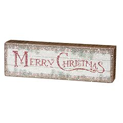 Rustic 'Merry Christmas' Box Sign Art