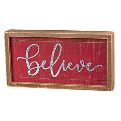 'Believe' Christmas Wall Decor